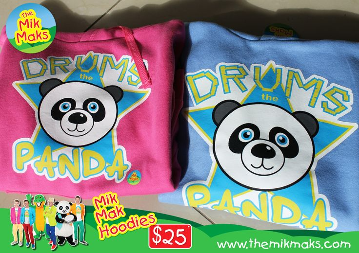 Mik Mak Hoodies $25 Panda Design Available in Blue, Pink & Lemon.  wwwthemikmaks.com.au