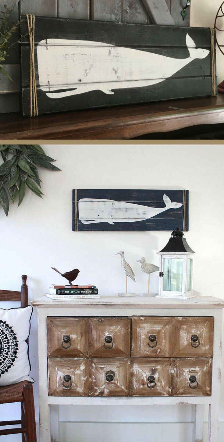 Rustic Wooden Whale Nautical Wall Art Home Decor Rustic Sign Farmhouse Sign Rustic Farmhouse Farmhouse D Whale Decor Farmhouse Decor Rustic Nursery Decor
