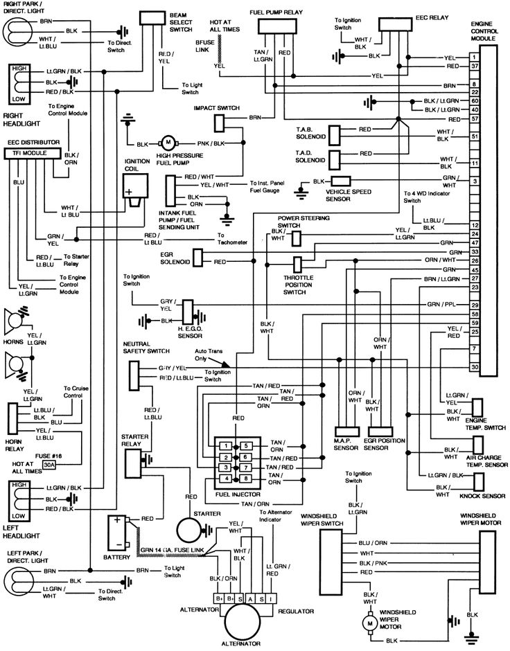 wiring diagram for lights in a 1986 Ford F150 – Exterior Lights Wiring Diagram 1996 Ford