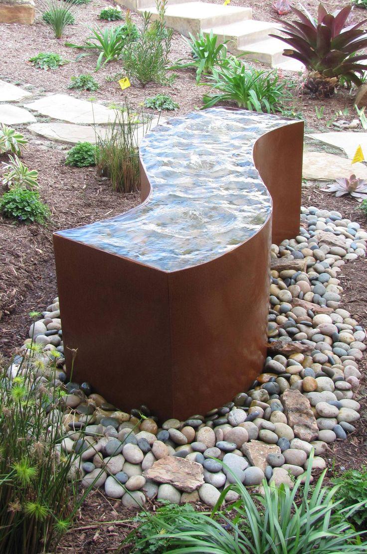 Rusted Metal Water Features Cor Ten Steel Water Feature