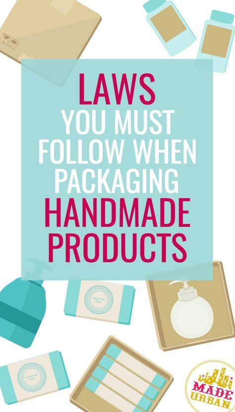 It doesn't matter how small your handmade business is or how many products you sell, you are required by law to follow the proper guidelines when labelling and packaging your handmade goods