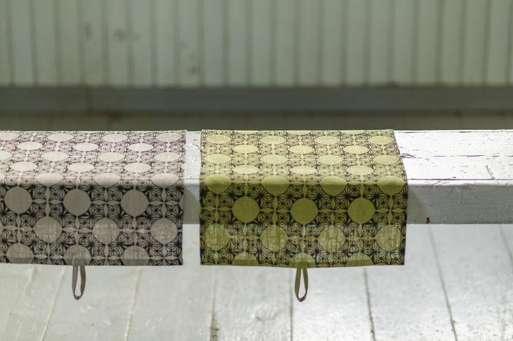 Kehrä (Whorl) tea towels. Design by Riikka Kaartilanmäki 2010.