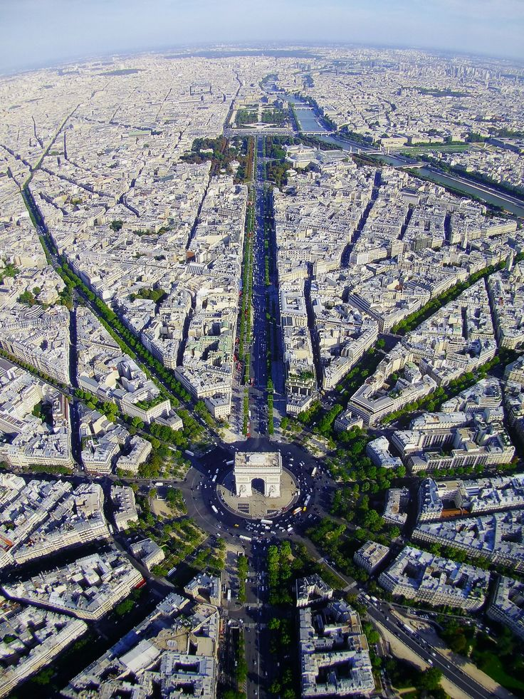 Paris Aerial  Place Charles De Gaulle  Place De L U2019 U00c9toile