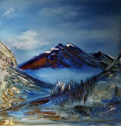 Mountains, 60 x 60 cm oil on canvas by Daria Zaseda