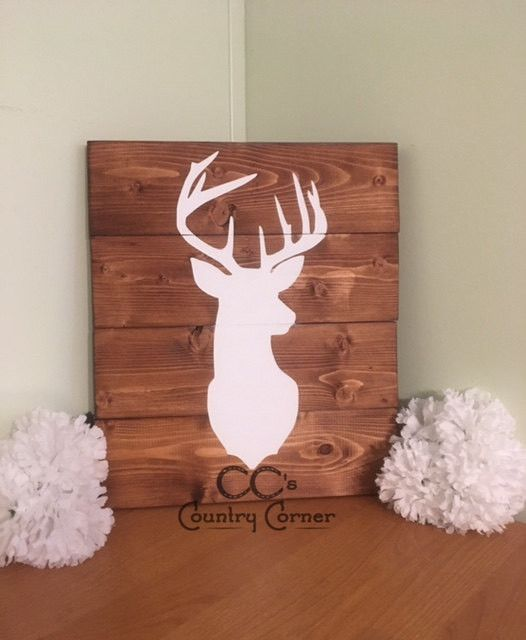 This sign will fit perfectly in your rustic styled living room or man cave!! Even a little one's room or nursery! It is made to look like a pallet style wood sign but is made with new wood that has be