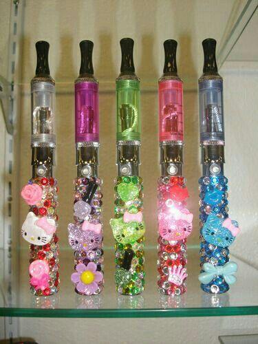 NEW Custom Made 3D Crystal Bling Vape Vaporizer Pen Case+Charger Free Ship US