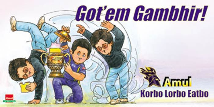 Amul Ad on Kolkata Knight Riders