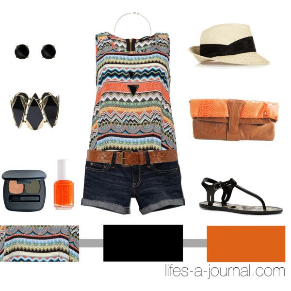 Tribal + Orange.: Summer Outfit, Everyday Fashion, Beaches Footwear, Tribal Orange, Summer Style, Fashion Iii, Fashion Blog, Tribal Prints, Tribal Patterns