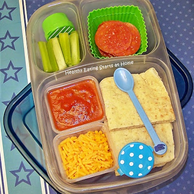 homemade pizza lunchable! healthy lunchable & bigger :)