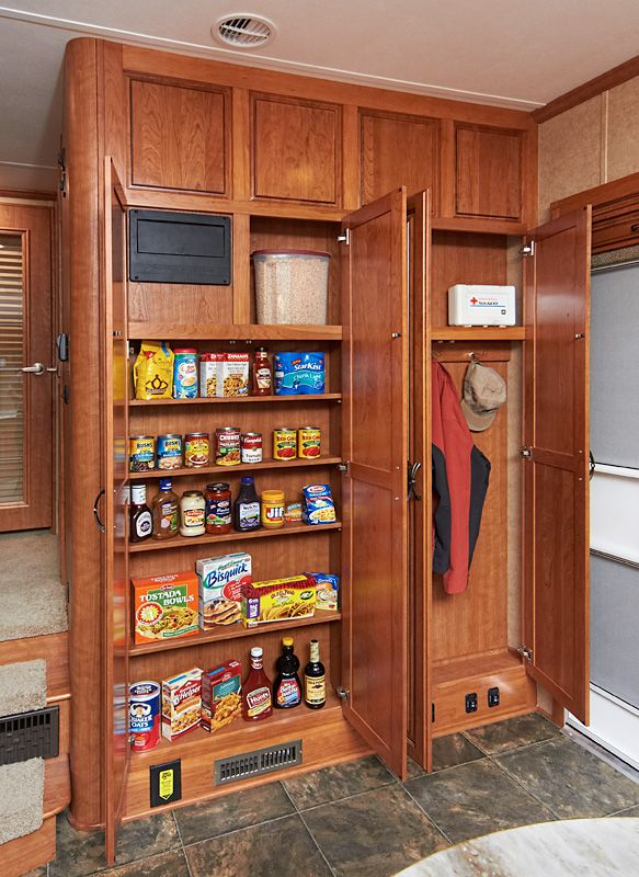 Lifestyle Luxury Rv Entryway Features A Closet And Small