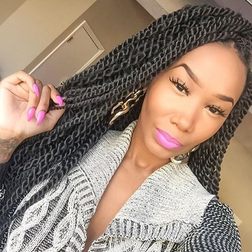 23 best Flat Twists Hairstyles images on Pinterest | Flat twist ...