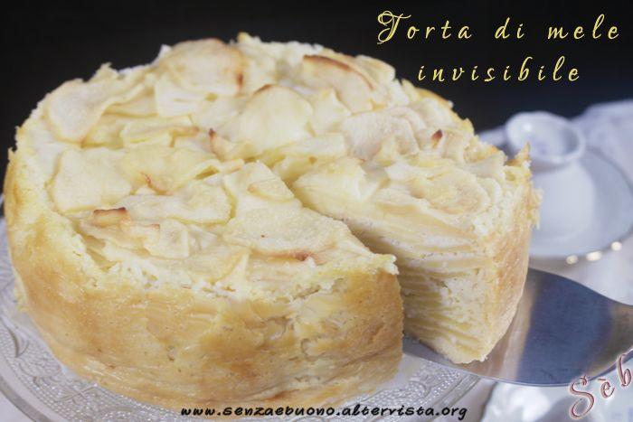 Torta di mele invisibile, la mia versione #senzafarina #senzaglutine #senzalatticini #sugarfree  a basso indice glicemico http://senzaebuono.altervista.org/torta-di-mele-invisibile-senza-glutine-senza-latticini/