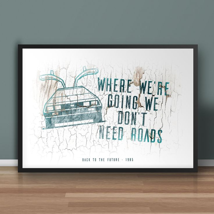 Back to the Future Movie Inspired Print - Cars and Quotes from Classic Films, Movie Posters, Room Decor, Unique Prints, Classic Cars, Film by MissingPixels on Etsy