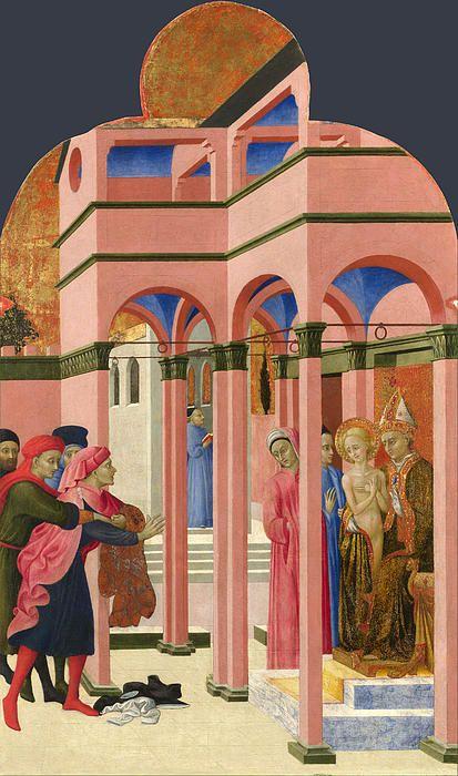 """San Francisco de Asis reniega de su padre"" (1444)- Sassetta (Gotico) (Italia) (1392-1450)"