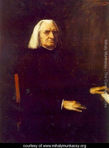 Portrait of Franz Liszt 1886 - Mihaly Munkacsy - www.mihalymunkacsy.org