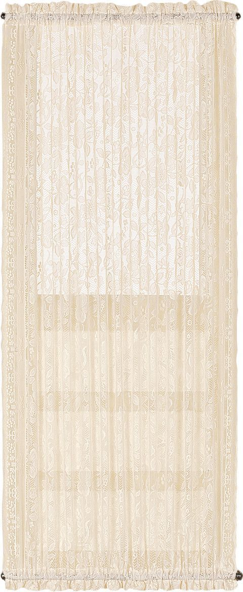 Windsor Door Rod Pocket Sheer Single Curtain Panel