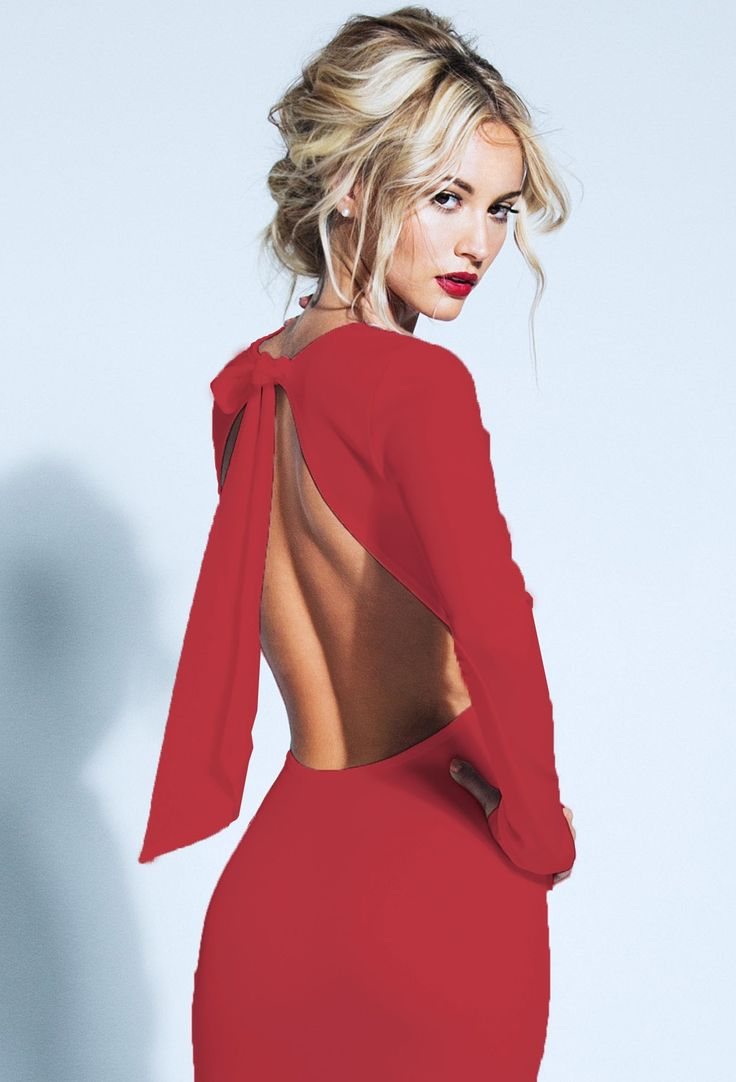 lurelly backless bow dress