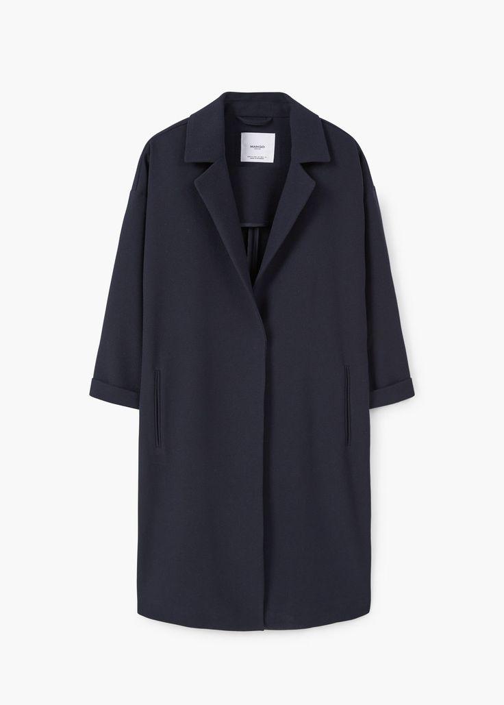 Manteau droit à revers   MANGO