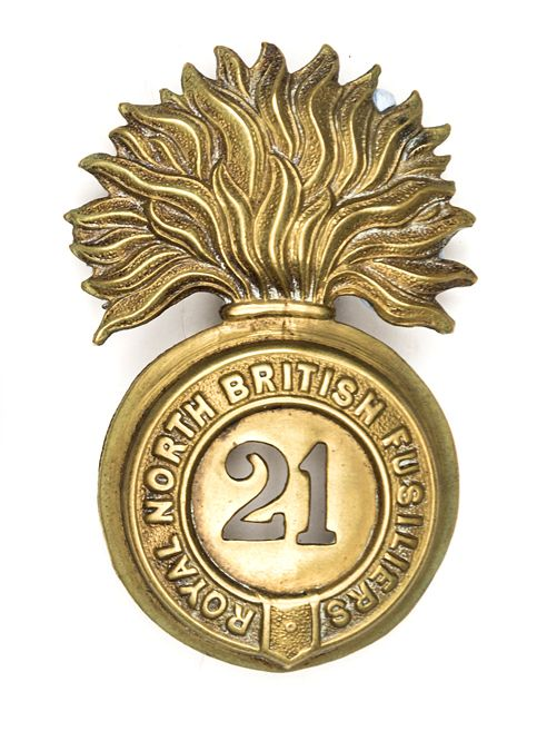 British; 21st (Royal North British Fusiliers) Regiment of Foot(later Royal Scots Fusiliers), OR's Glengarry badge, 1874 pattern