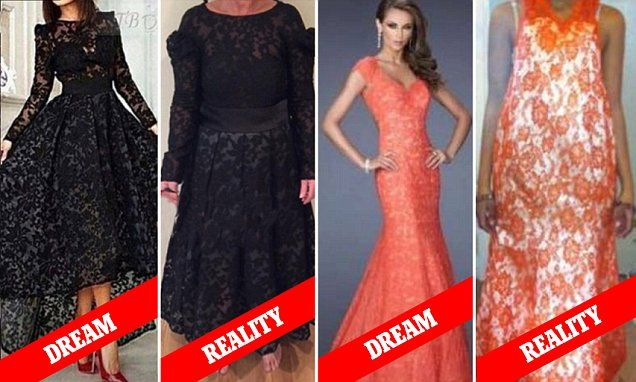 Women share photos of their hilarious online shopping fails