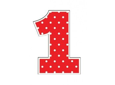 Numeric Candle, Red Number 1 | Whish.ca