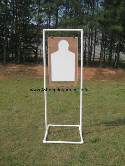 One of the easiest ways to build a portable target stand is to use PVC pipe and connectors. Things you are going to need : about 22 feet of 2″ pipe 6 -2″ 90* elbows 2 -2″ tees 4 1/2 feet of metal wire 4 – paper clips ( the black squeeze kind) either a …