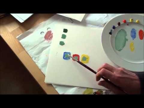 Farben richtig mischen (2/2) - Praktische Übungen - YouTube