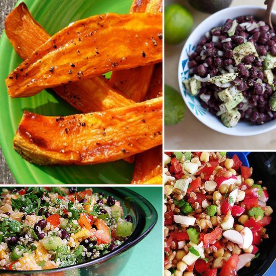20 Vegan Barbecue Sides. i want to try the Quinoa, Black bean and mango salad