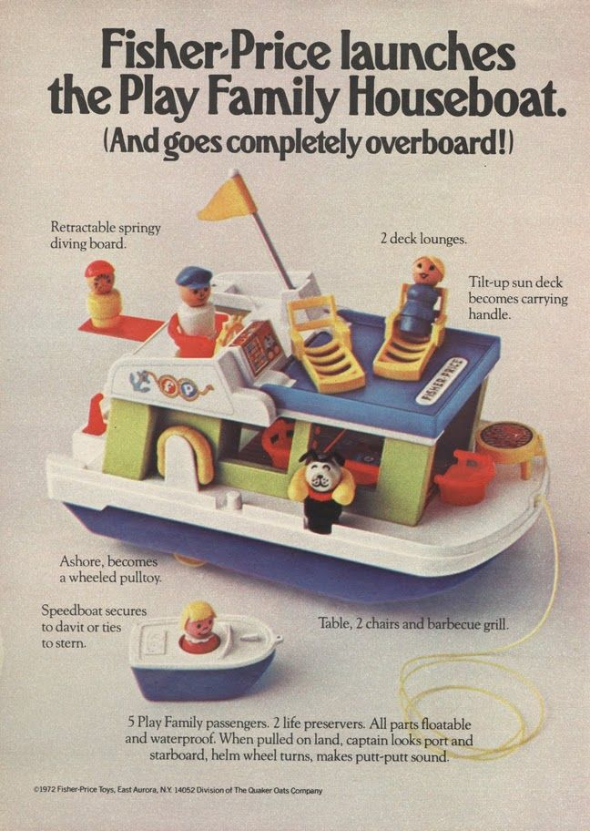 """I knew a """"rich kid"""" who had one of these. We could only afford old barbies and plastic cups for bathtub toys! lol!"""