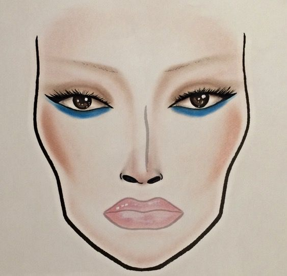 MAC Guo Pei inspired facechart