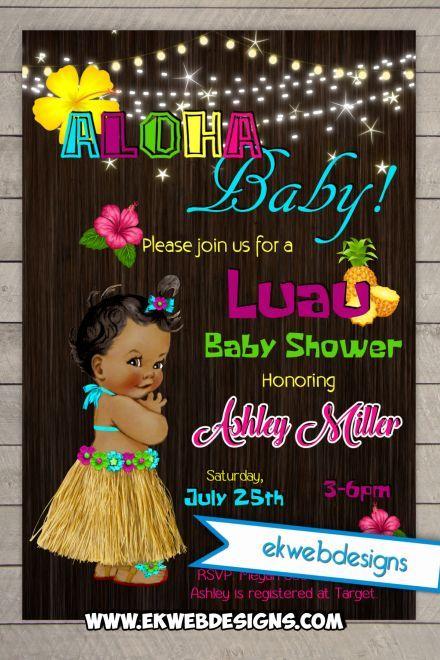 Aloha Baby! Custom Luau Baby Shower Invitations