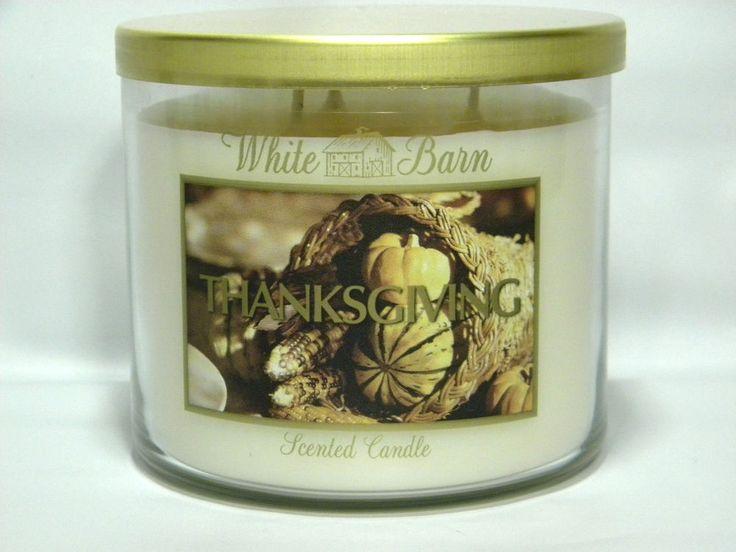 Bath & Body Works /  White Barn THANKSGIVING 3 Wick Candle Large 14.5 oz  RARE   #BathBodyWorks
