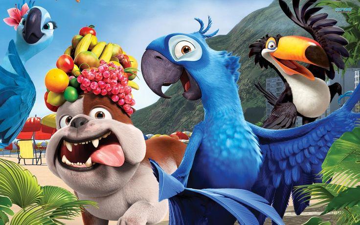 cartoon movie   Download wallpaper Rio, cartoon, parrot, blue free desktop wallpaper ...
