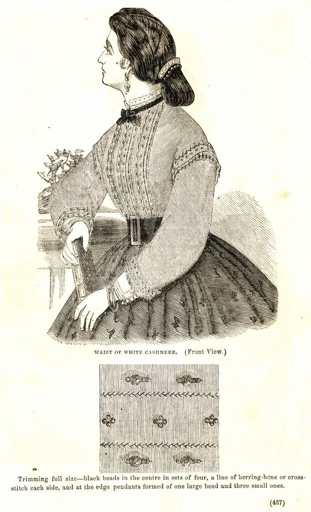what-i-found: Civil War Fashions - Engravings from 1864 Ladies Friend Magazine - Waists