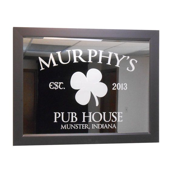 Custom Bar Mirror Pub House 18 x 24 w/ by LifetimeCreations
