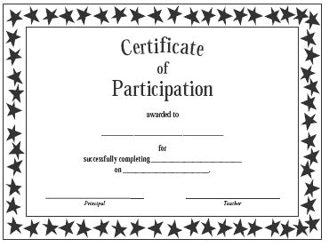 Great Certification Of Participation Free Template For Printable Certificate Of Participation