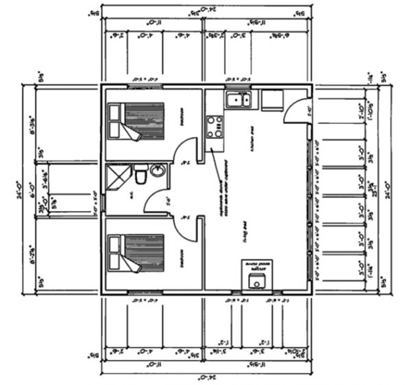 24x24 576sqft Two Levels Small House 39 S Pinterest
