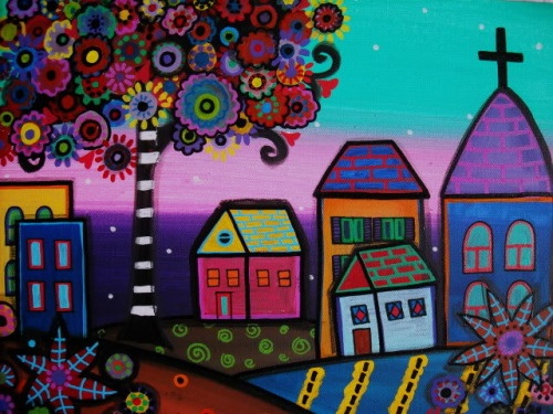 Mexican art..i think shes American folk artist.I could be wrong..but love it:-)