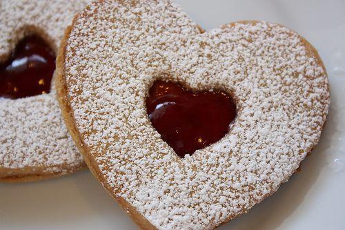 valentine's linzer cookies | ...starts with 'C' | Pinterest
