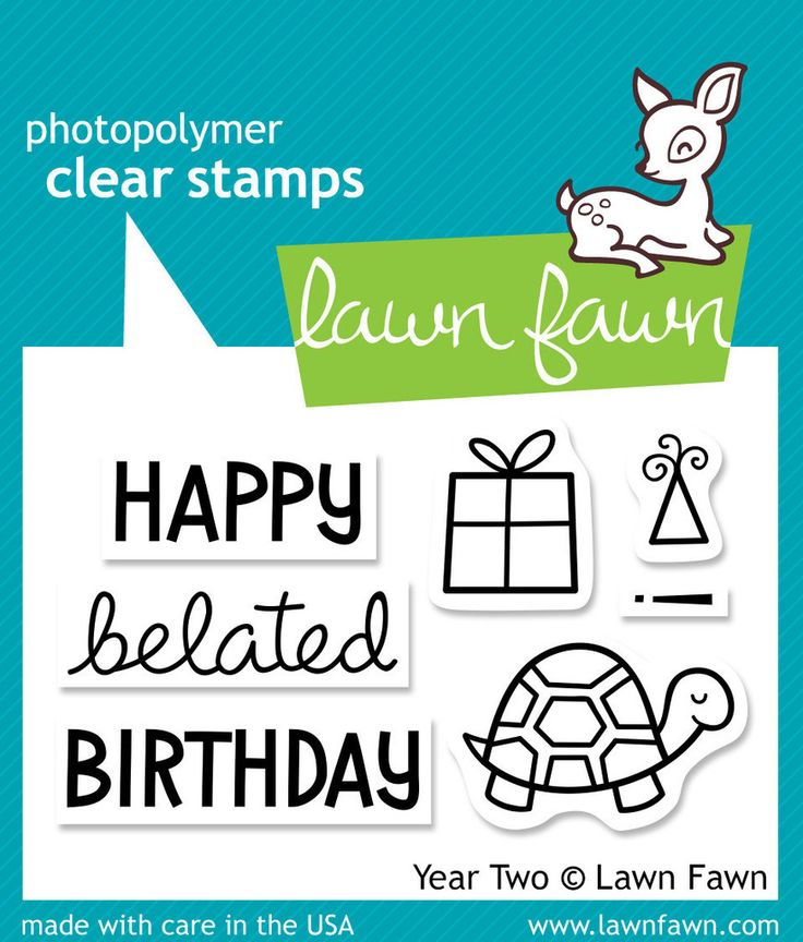 Lawn Fawn - Stamps - Year Two (Belated Birthday)