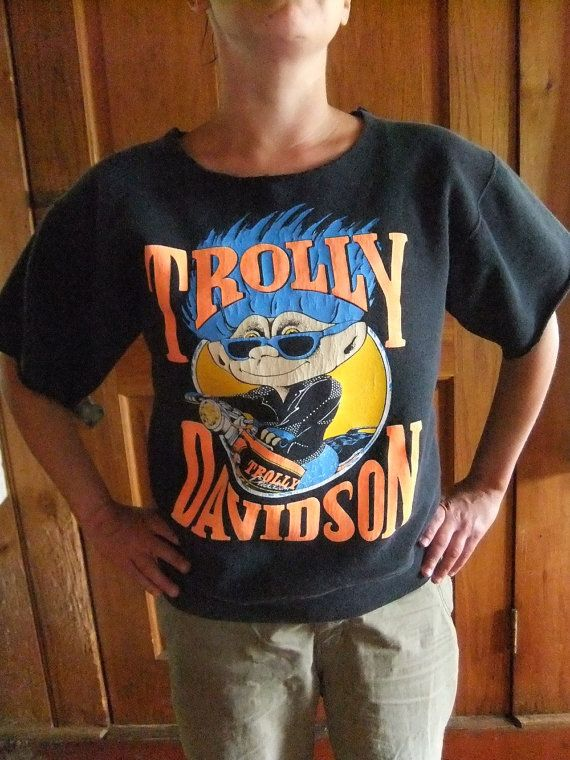 90s Trolly Davidson Cut Sweatshirt Woman's Medium by michiegoodsny