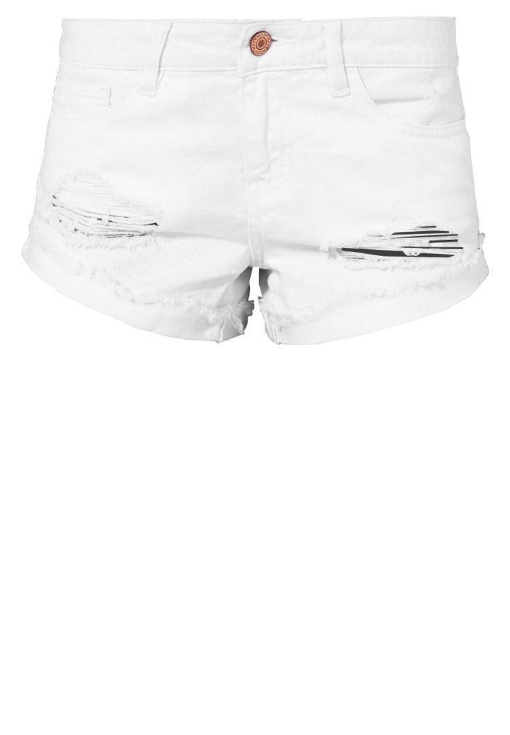 Noisy May NMFRAN  Szorty jeansowe bright white