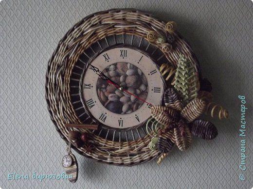 Декор предметов Интерьер Плетение Тик-так часики Бумага газетная Трубочки бумажные фото 13