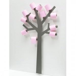 Réserve papier toilette design arbre pqtier gris presse citron Kdesign
