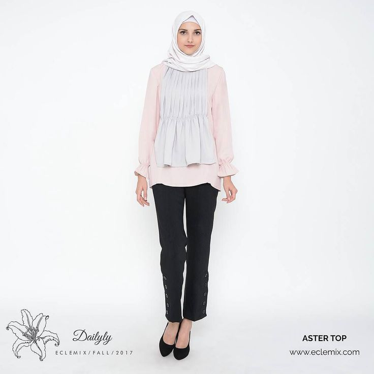 Good night ladies... . Another  color of ASTER  is here.. brand new thing from DAILYLY collection . ASTER TOP in PEACH . Get 10% OFF privillage with PRE ORDER . Check out www.eclemix.com or reach our admin contact at :  LINE@ : @eclemix  WA : 081326004010 . #eclemix #fashion #casual #top #hijab #ootd #bandung #localbrandindonesia