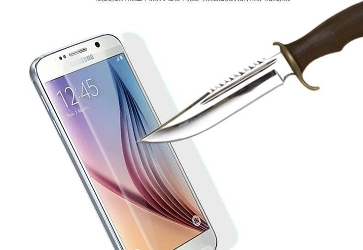 Tempered Glass Screen Protector Protection for Samsung Galaxy S6 Edge