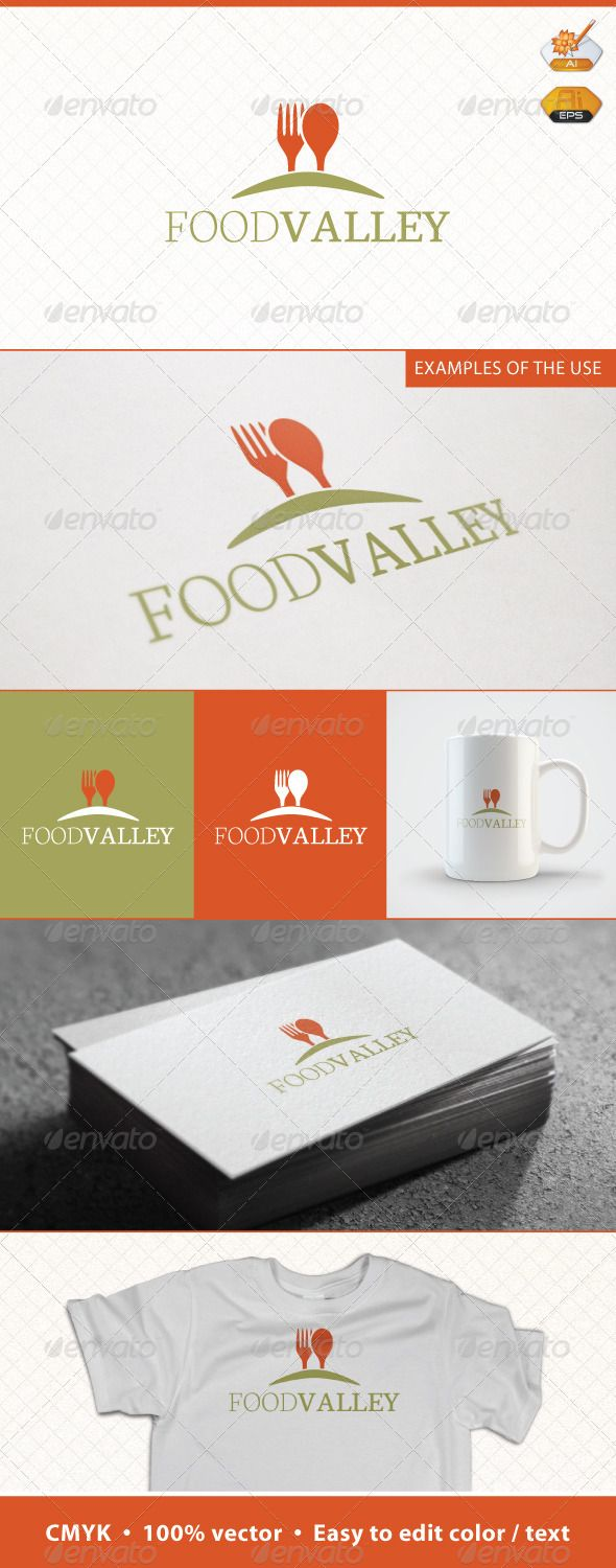 Food Valley Logo Template