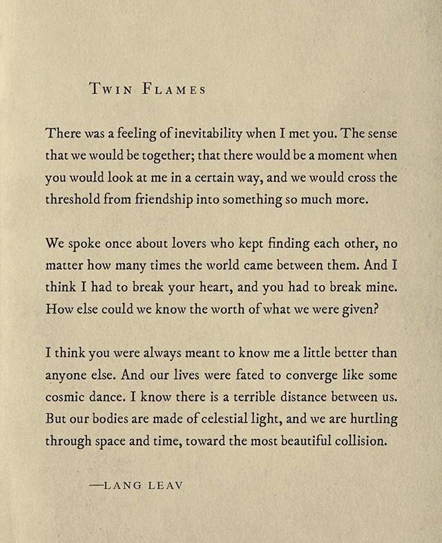 -LANG LEAV • Twin Flames