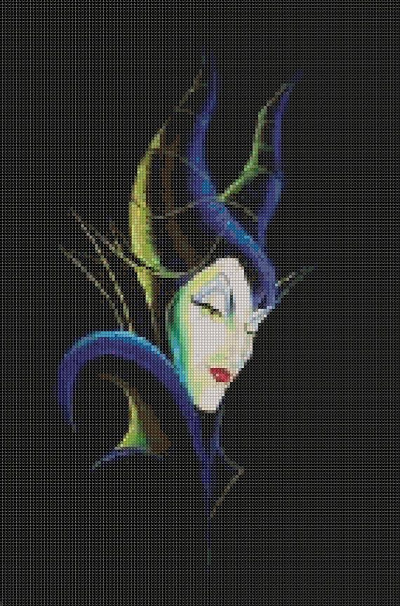Hey, I found this really awesome Etsy listing at https://www.etsy.com/listing/216710127/maleficent-head-cross-stitch-pattern