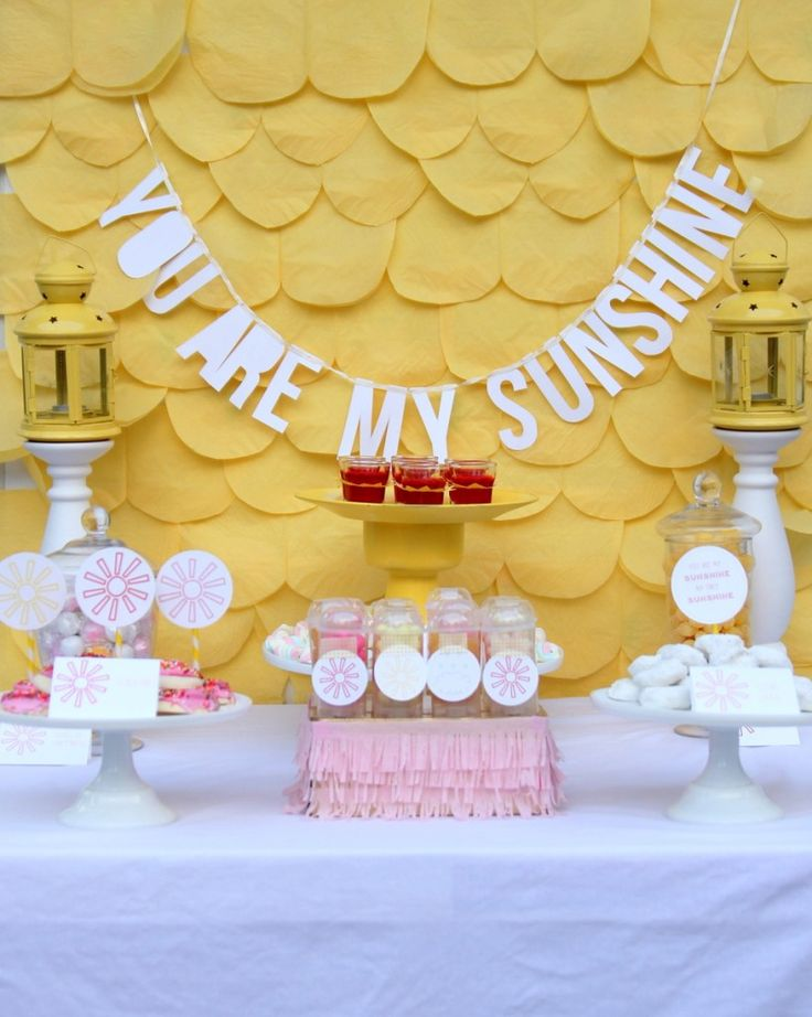 you are my sunshine baby shower (and some cheerful baby shower ideas)